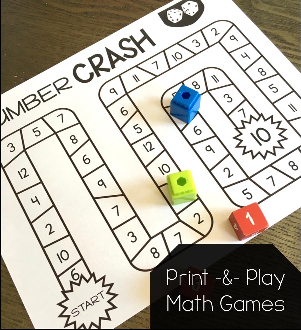 Print And Play Math Games Susan Jones Kindergarten Math Games Play Math Printable Math Games