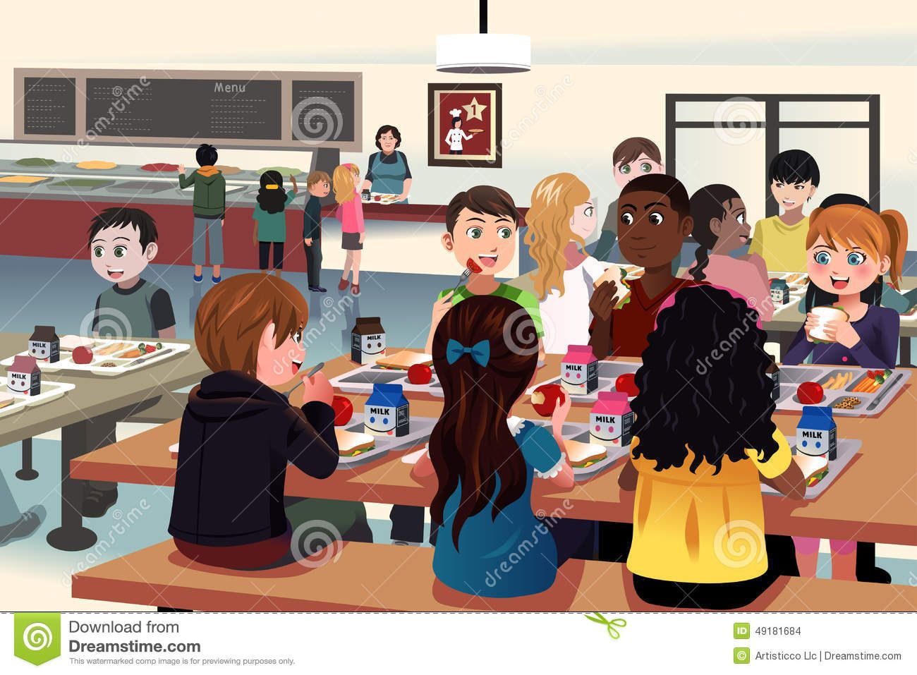 Image Result For School Cafeteria Cartoon Free Art Prints