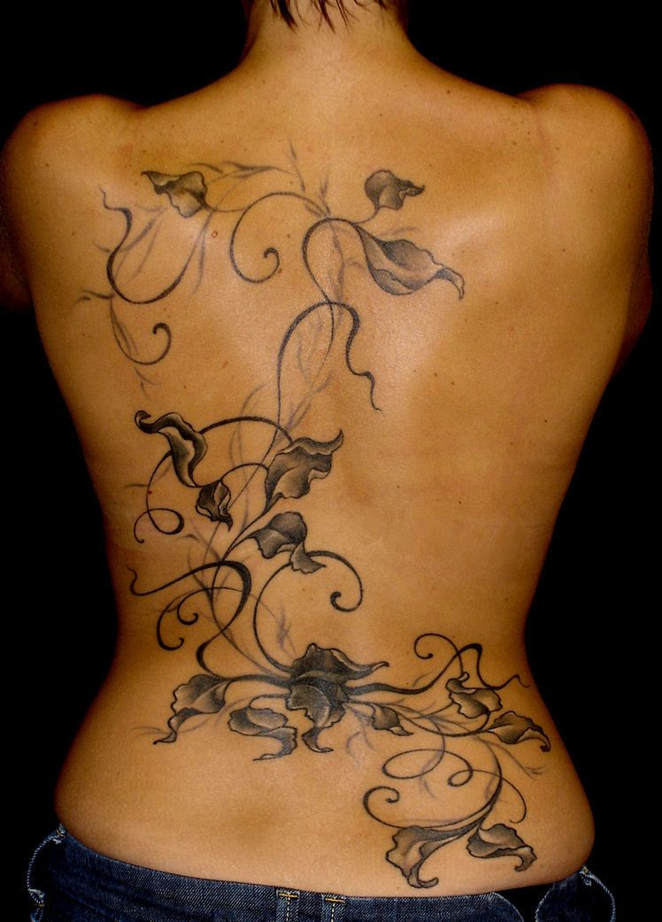 Black And White Leaves Tattoos Feminine Tattoos Cover Tattoo