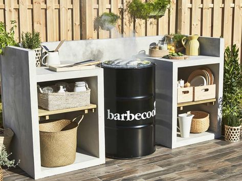 Construire un espace barbecue Jardin potager Pinterest