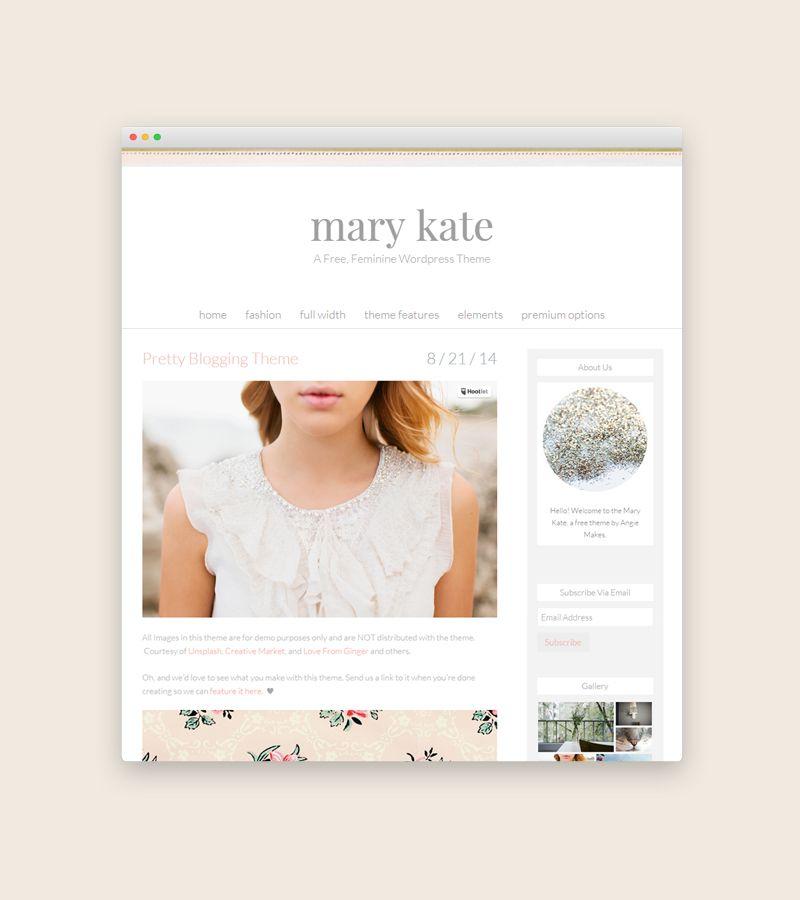 Free Beautiful Feminine Website Theme
