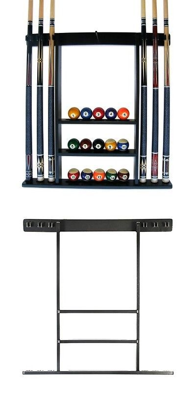 Other Billiards 1292 New Billiard Cue And Ball Storage Rack 6 Pool Wall Mount Wood Snooker Stick Stand Buy It Ball Storage Pool Cue Rack Billiard Supplies