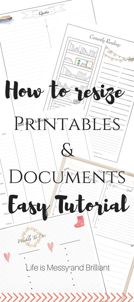 How To Resize And Print Printables In Microsoft Word Journal Ideas