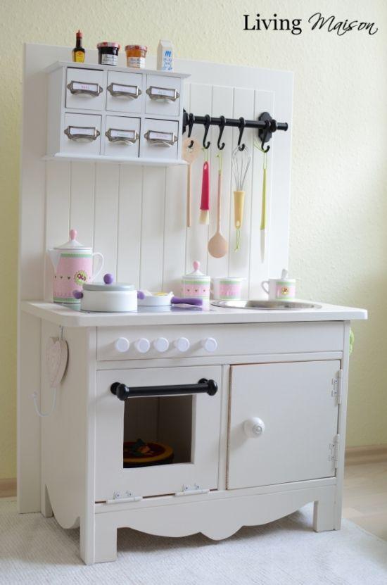living maison ich bin ein ikea hacker diy kinderk che play kitchen spielk chen. Black Bedroom Furniture Sets. Home Design Ideas