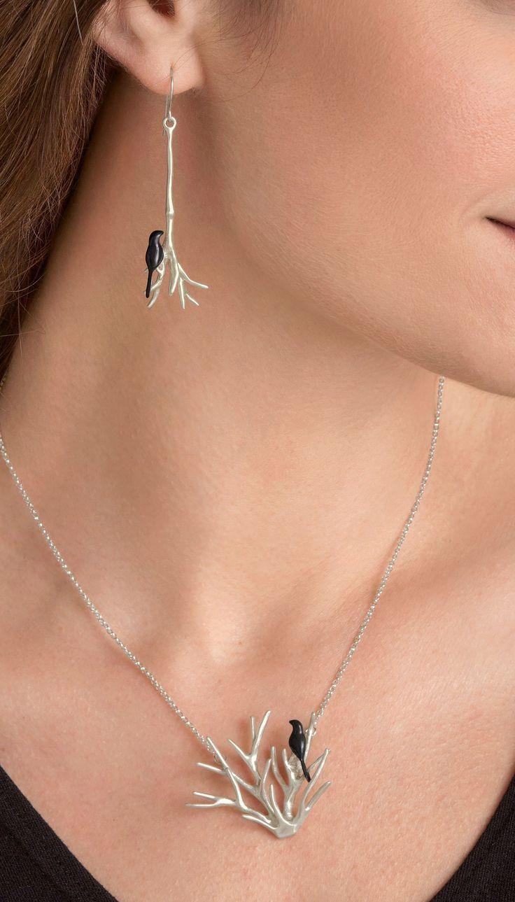 Black Bird Jewelry by Lisa Cimino (Silver Jewelry) | Artful Home