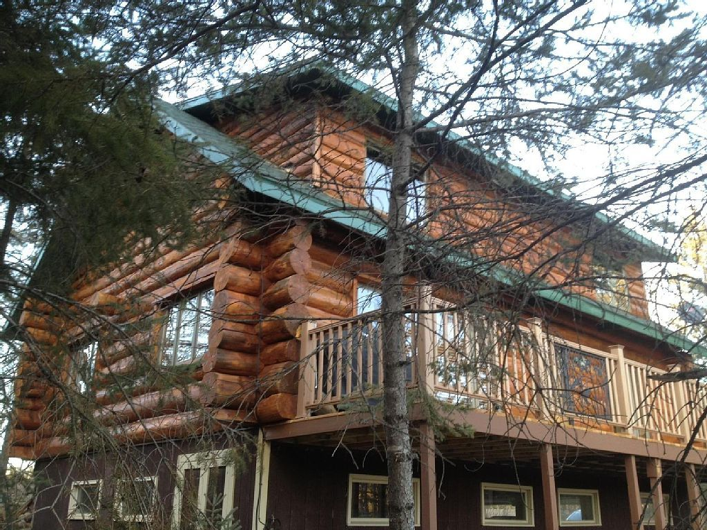Park Rapids Vacation Rental   VRBO 444692   3 BR Northwest House In MN,  Beautiful Log House On Little Sand Lake Pontoon Included
