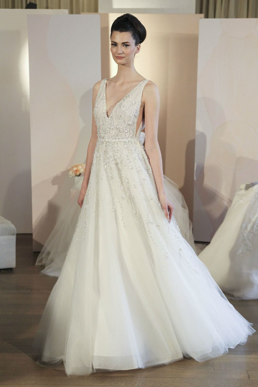 V Neck Beaded Wedding Dress Francoise By Anne Barge Spring 2018