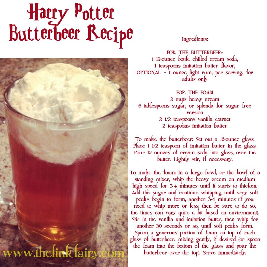 Make your own Butterbeer!! - Jet Setting Mom  Butterbeer recipe