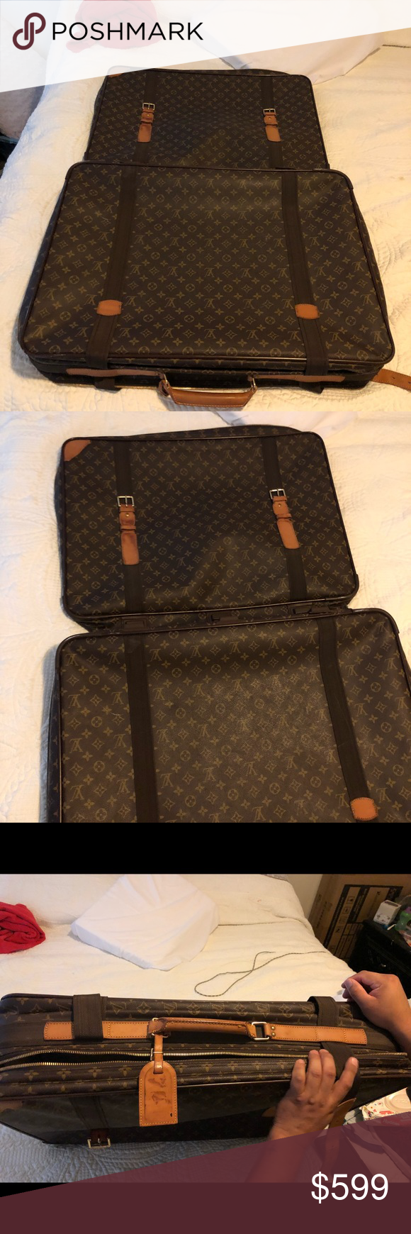 """Luis Vuitton travel Suit Case  Vl 0916 20"""" Vertical X 28""""horizontal X d31b1434f6d18"""