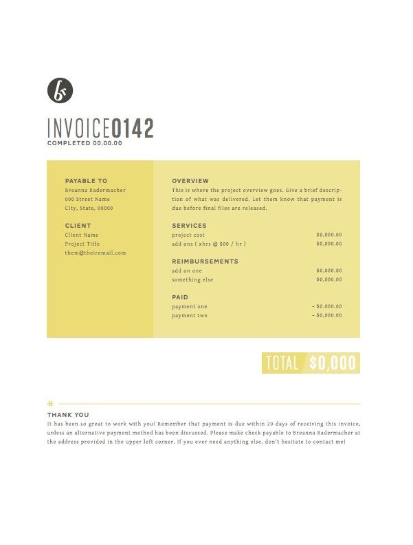 Creative invoice bill designs to impress clients - 7 creative - invoice bill