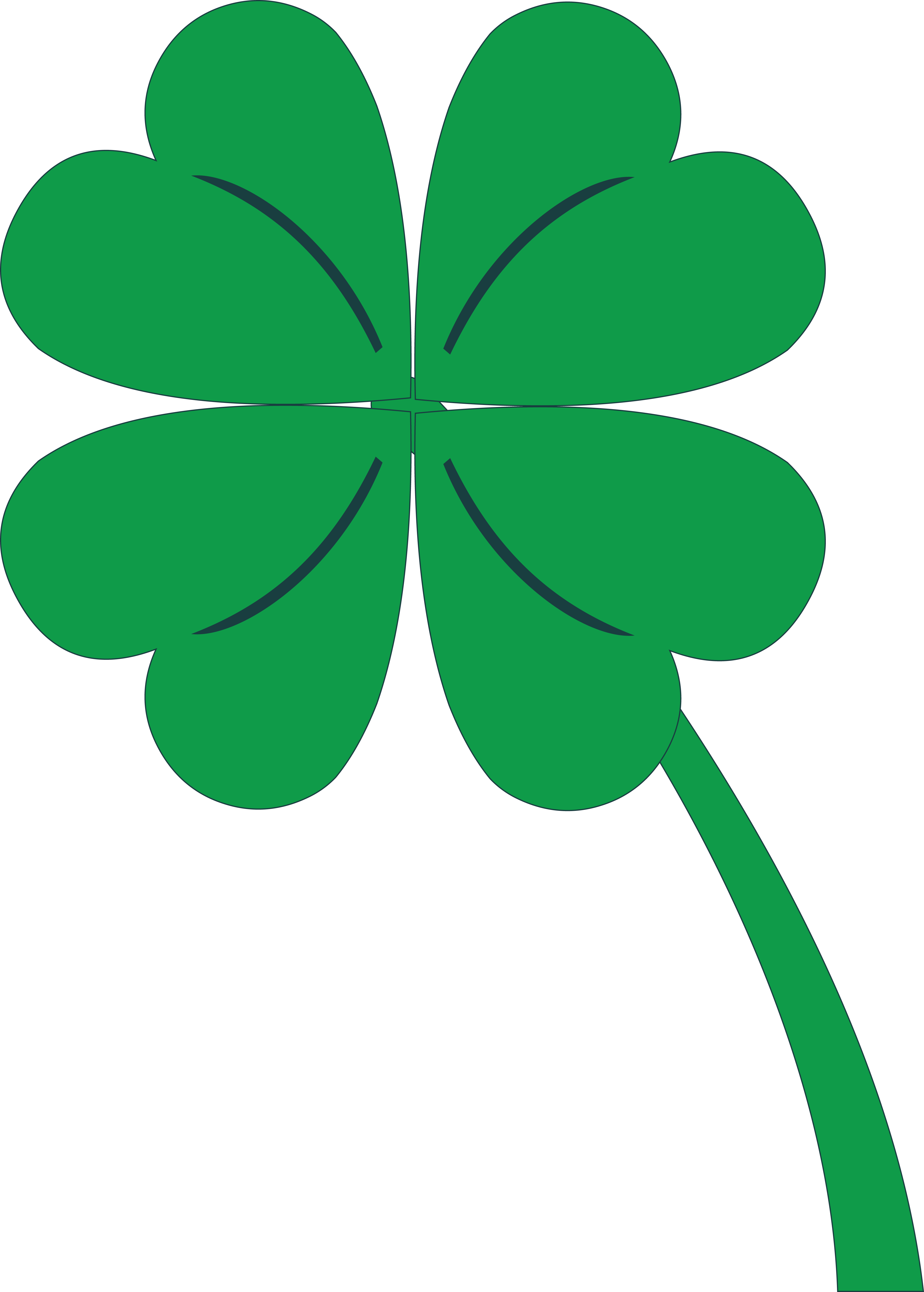 207 free clipart of a st paddys day 4 leaf clover shamrock png 4 000 rh pinterest com 4 leaf clover clipart black and white 4 leaf clover clipart free