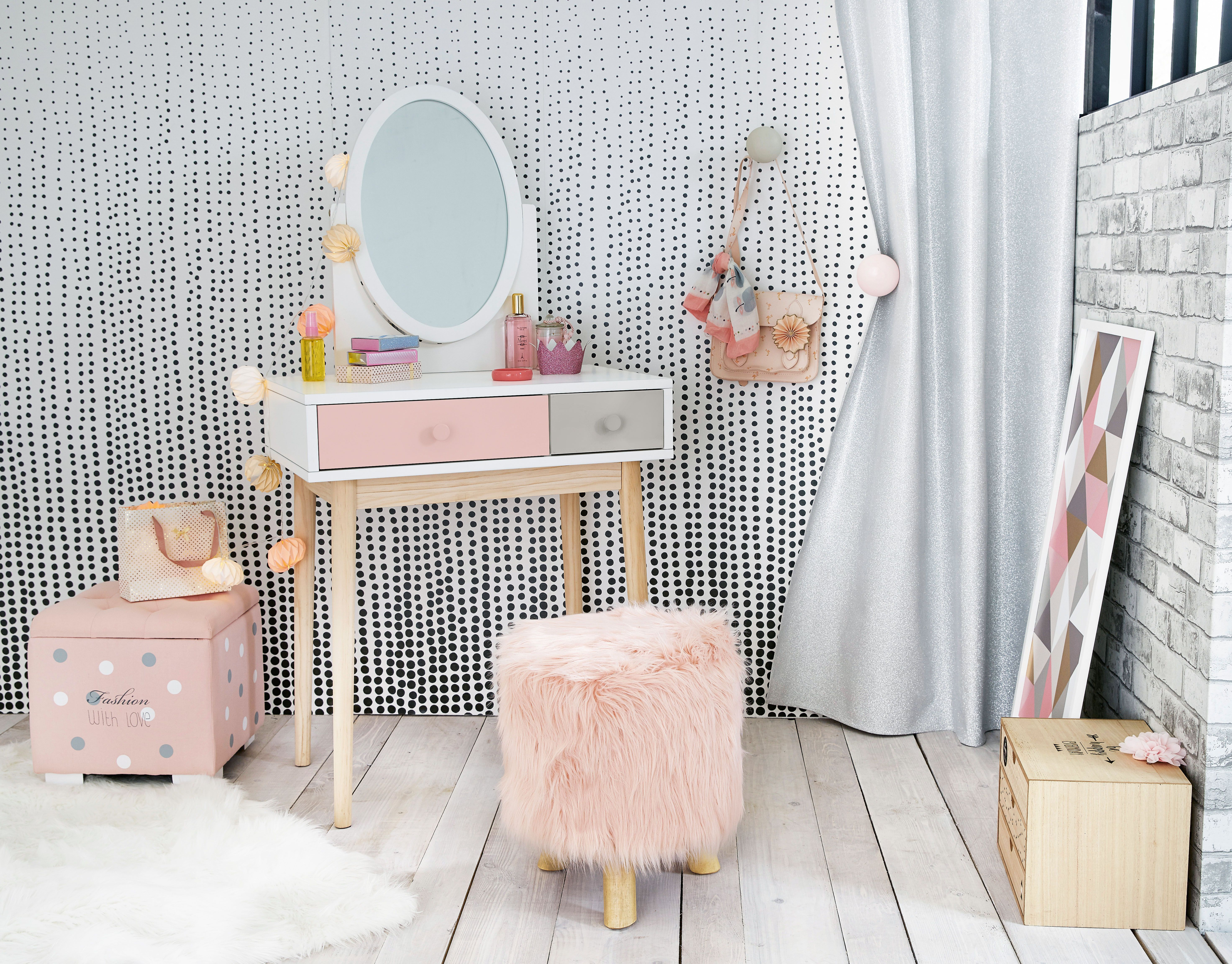 Girls Dressing Table Blush Pink Grey And White Children S Dressing Table Maisons Du