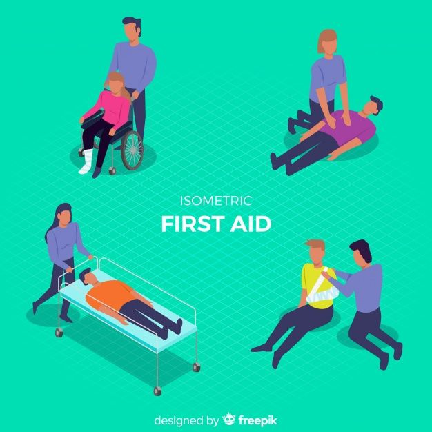 First aid background Free Vector | poster | Vector free