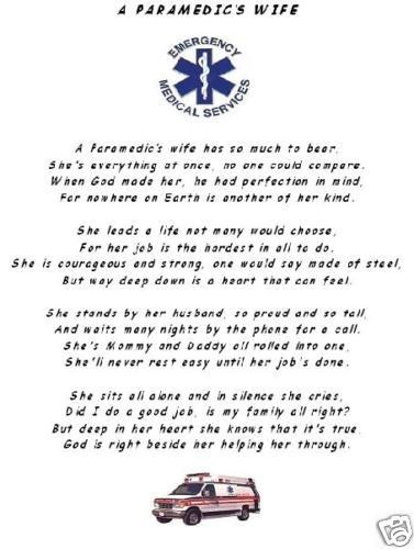 Ems Emt Poem  A ParamedicS Wife  Ems    Poem