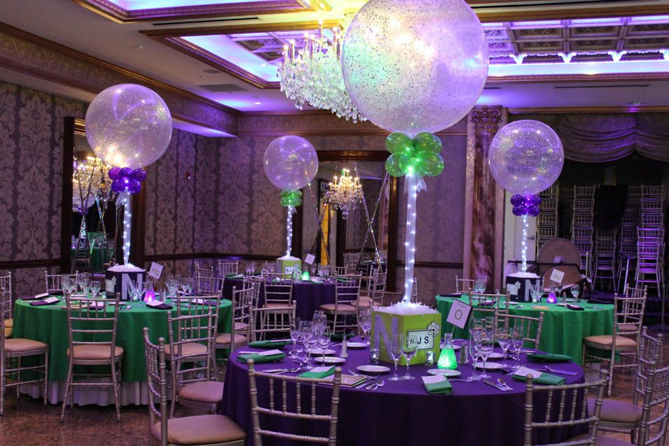 Science themed bar mitzvah with photo cube sparkle