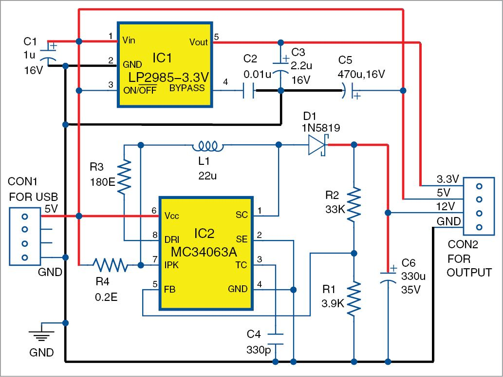 Simple 12v Dc Power Supply Circuits