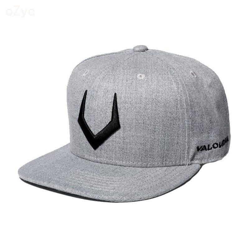 High quality grey wool snapback 3D pierced embroidery hip hop cap flat bill  baseball cap for ba7a1508a1bc