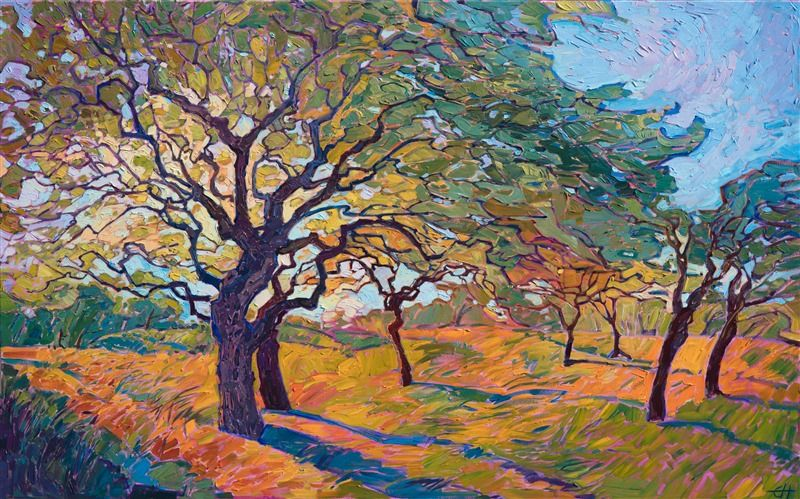 Oak Tree Painting In A Contemporary Open Impressionist Style By