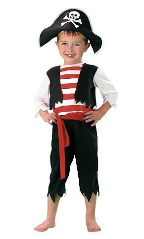 3-4 Years Amscan Toddler Rascal Deckhand Pirate Costume