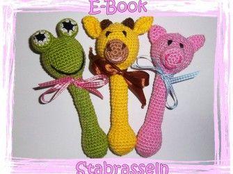 E-Book - Häkelanleitung - Rassel - Greifling - Spielzeug