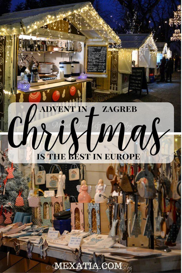 Croatia Christmas Market Christmas Travel Zagreb