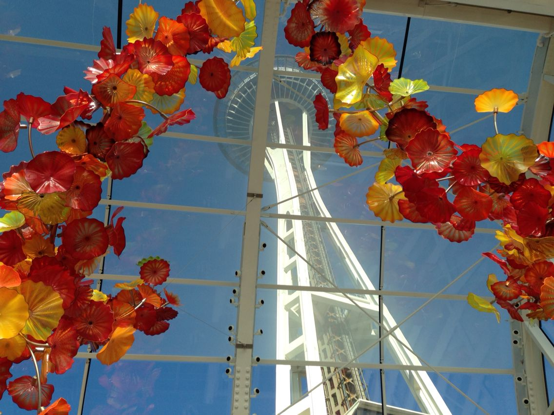Chihuly glass exhibit seattle space needle space