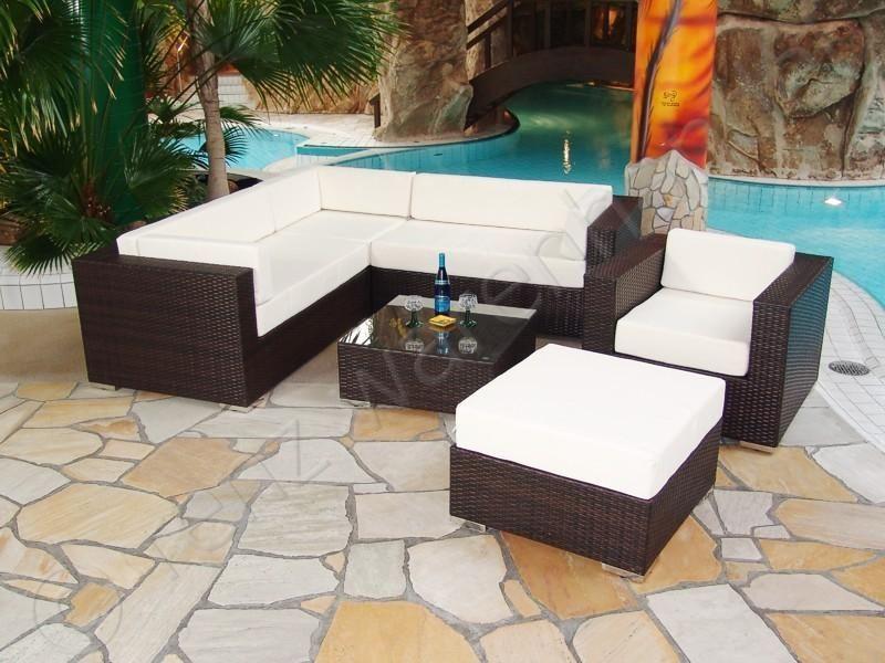 Gartenmöbel PolyRattan Essgruppe Tisch mit 6 Stühlen \ 4 Hocker - innenraumgestaltung tipps dienstleister