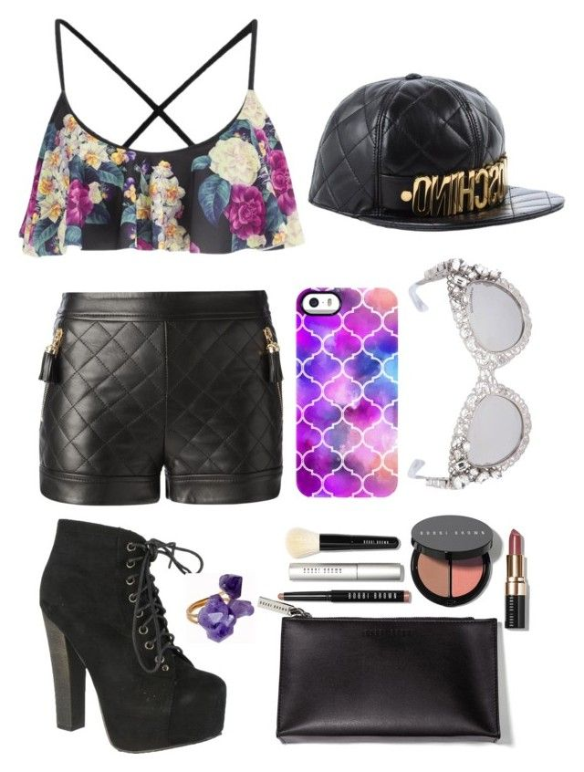 """""""Chic"""" by jannat1999 ❤ liked on Polyvore featuring beauty, MINKPINK, Uncommon, Moschino, Dolce&Gabbana, Bobbi Brown Cosmetics, Breckelle's and Helix & Felix"""