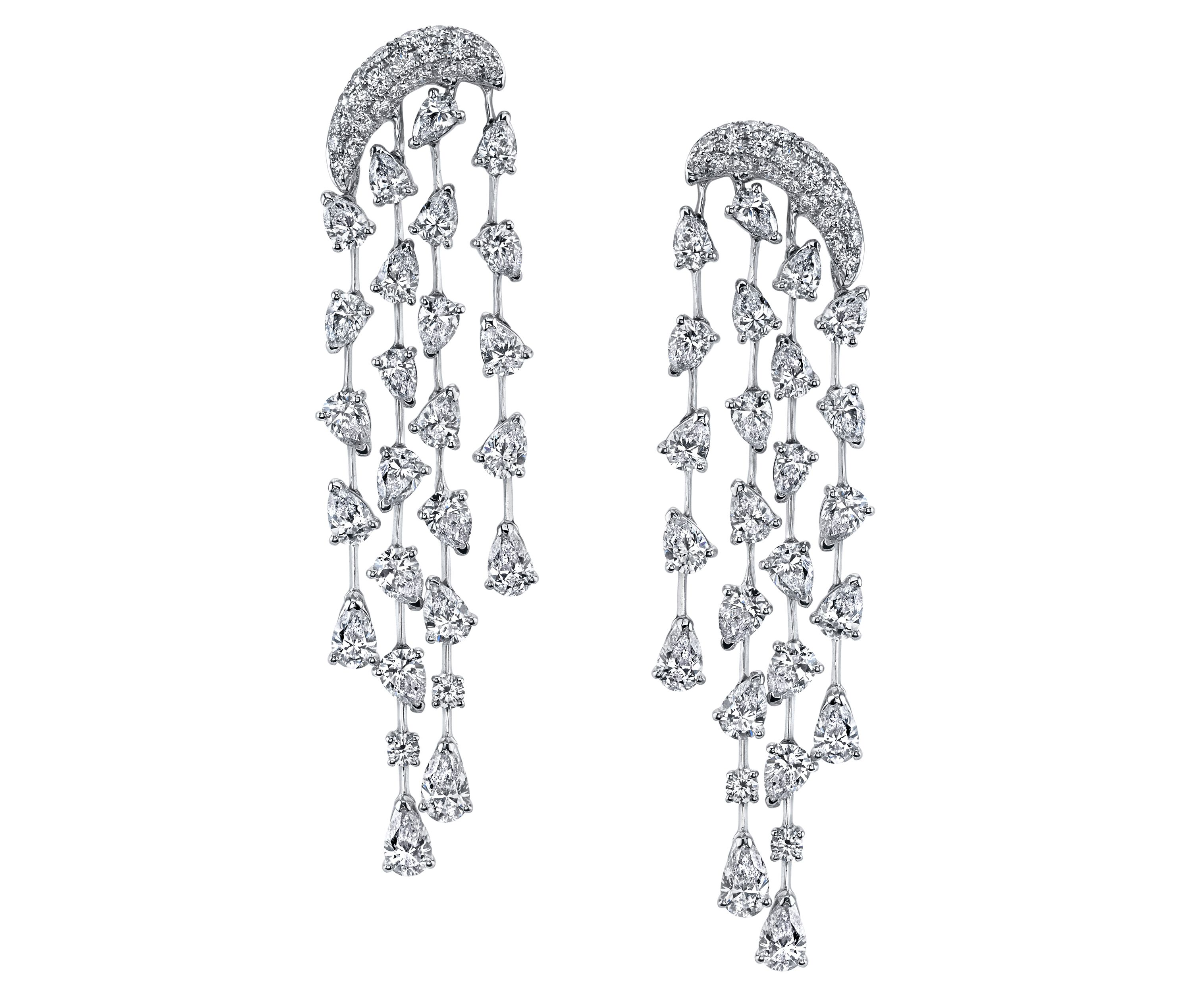 cut a diamond rg dia interwoven ladies earrings real itm round dangling gold bridal