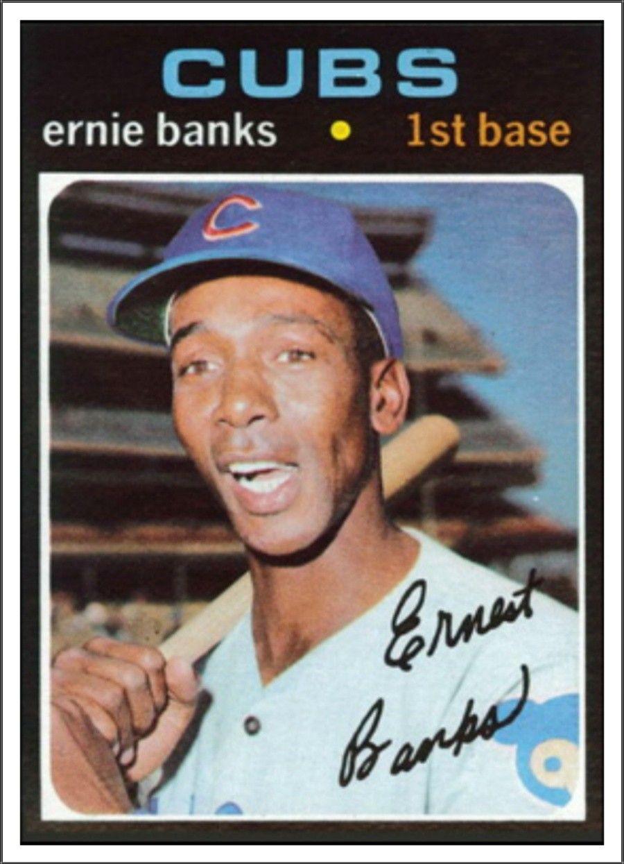 Ernie Banks Baseball cards, Ernie banks, Baseball card