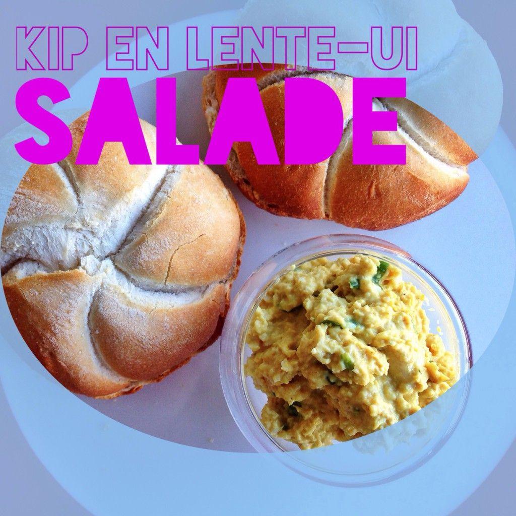 Broodsalade met kip en lente-ui