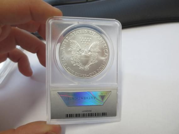 2010 Silver American Eagle ANACS MS70 First Day of Issue #10211