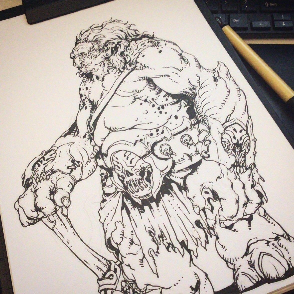 Brushes For Character Design : Artstation stato fantasy characters brush pen