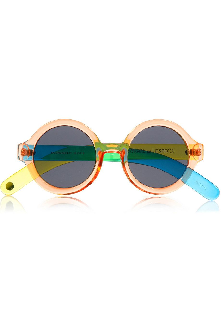 Le Specs - + CRAIG & KARL Roundabout round-frame acetate sunglasses
