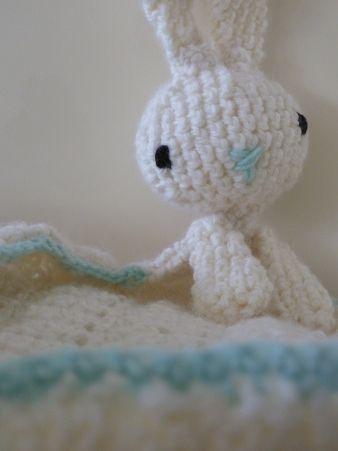 Bunny Blanket Buddy Baby Crochet Lovies Pinterest Bunny