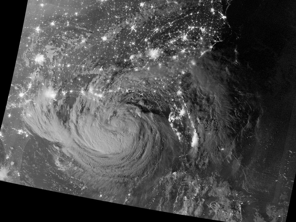 View of the Southeastern United States from NASA's Suomi-NPP satellite of Tropical Storm Isaac on August 28, 2012 at an altitude of 512 miles. source: http://npp.gsfc.nasa.gov/science/sciencecollection.html