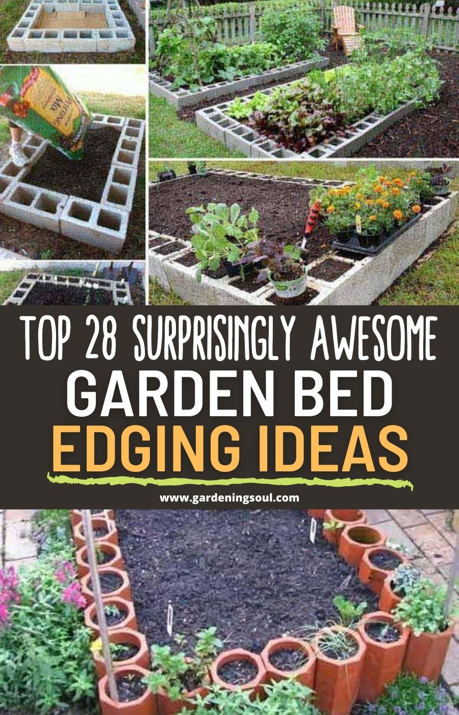 Top 28 Surprisingly Awesome Garden Bed Edging Ideas Garden Beds Garden Ideas To Make Raised Garden