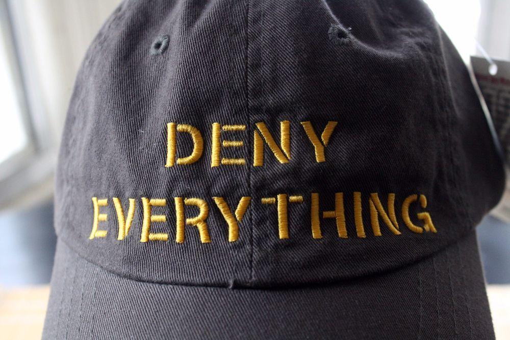 """Resultado de imagem para : cap """"Deny Everything."""""""