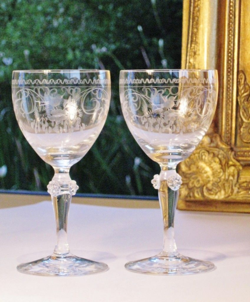 Luxury Theresienthal Vintage German Crystal Wine Glasses Pair In 2021 Antique Wine Glass Crystal Wine Glasses Vintage Wine Glasses