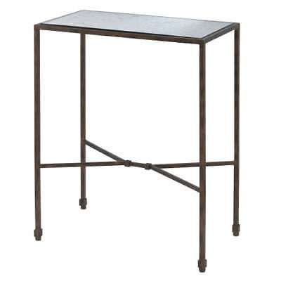 Currey and Company 40000006 Rodan 24 High Accent Table with Mirror