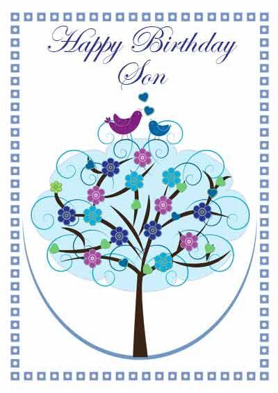 Printable Birthday Cards For Son : printable, birthday, cards, Printable, Cards, Every, Occasion, Birthday, Cards,