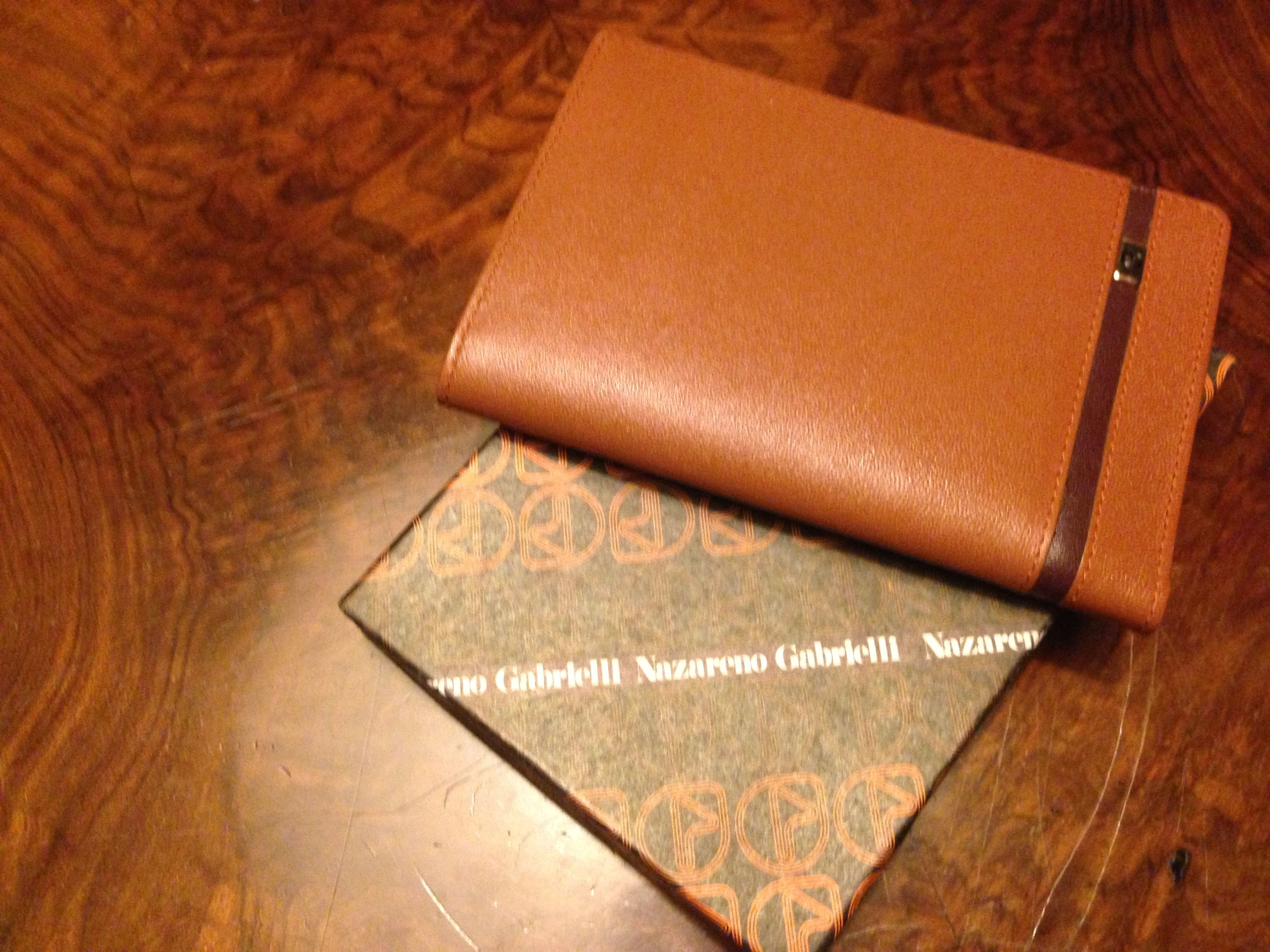leather envelope for license and credit cards Nazzareno Gabrielli 70s