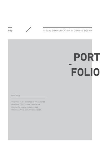 Portfolio Design portfolios, Layouts and Editorial - portfolio cover page template