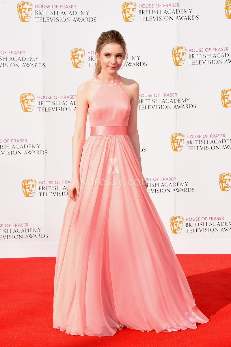 Eleanor Worthington Cox Beautiful Pink Pageant Prom Dress Academy T ...