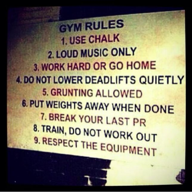 Old School Gym Rules