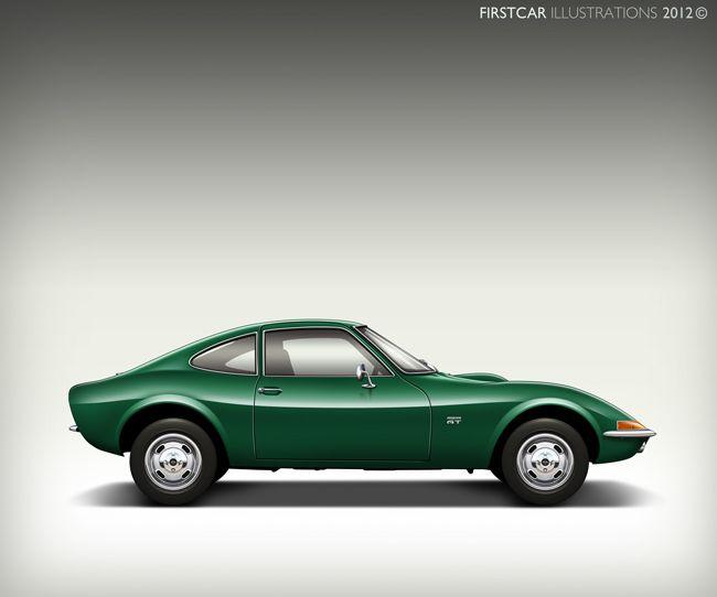 Green OPEL GT 1968–1973 Maintenance/restoration Of Old