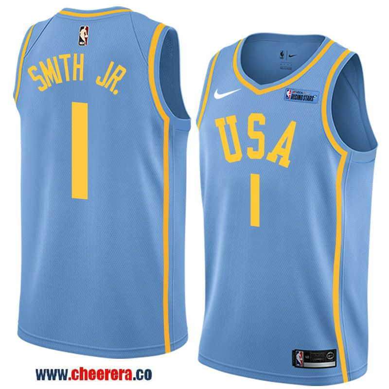 the latest 3d34c 013f1 2018 nba all-star rising stars challenge men's light blue ...