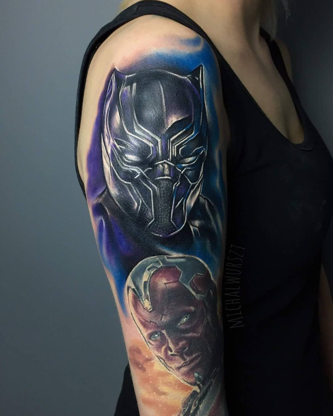 Image result for black panther tattoo marvel