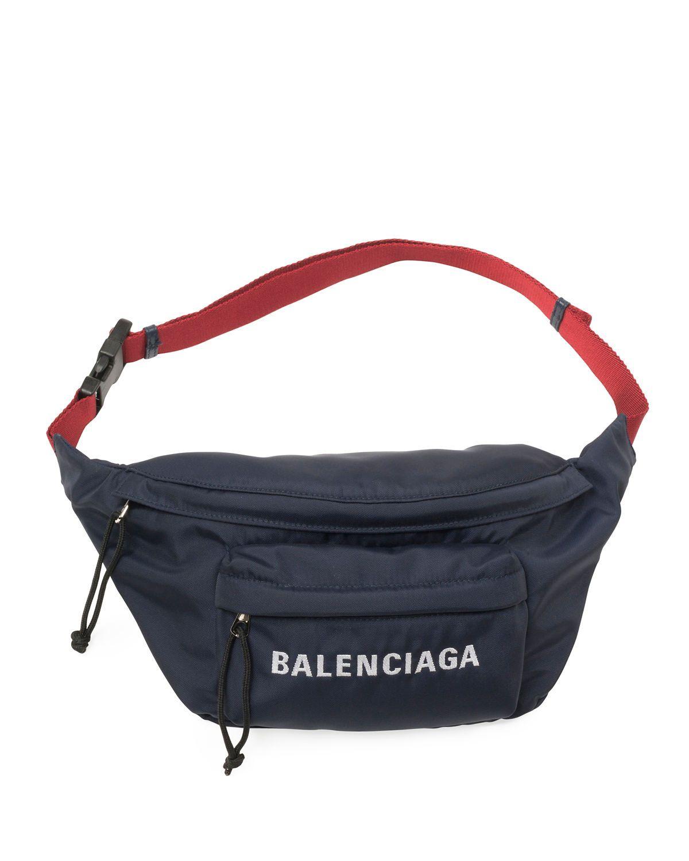 9635e1db0c BALENCIAGA WHEEL CANVAS BELT FANNY PACK BAG WITH LOGO.  balenciaga  bags