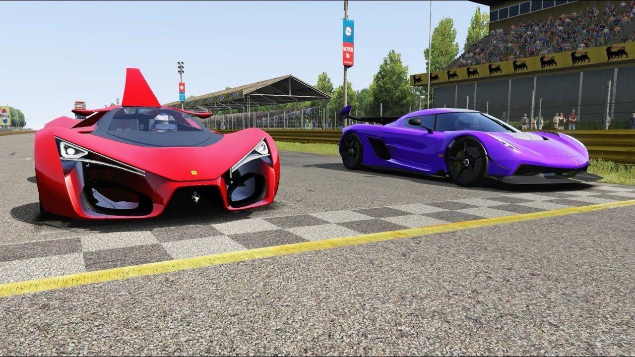 Koenigsegg Jesko vs Ferrari F80 Concept at Monza Full Course #ferrarif80 Koenigsegg Jesko vs Ferrari F80 Concept at Monza Full Course #ferrarif80